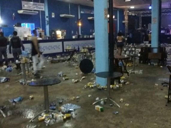 Imagem de casa de evento onde foi registrado homicídio na madrugada de ontem na capital / Gaoiso divulgação