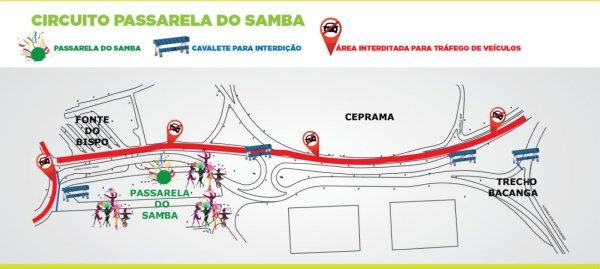 CIRCUITO DO CARNAVAL 2016_interdição smtt