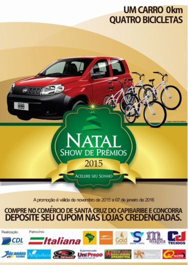Cartaz Natal Show de Prêmios 2015
