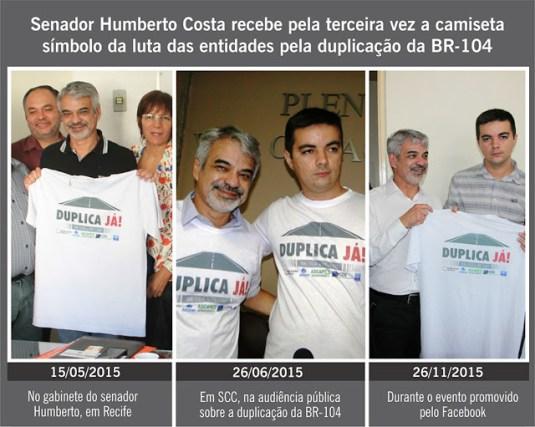 Humberto Costa - Camisetas
