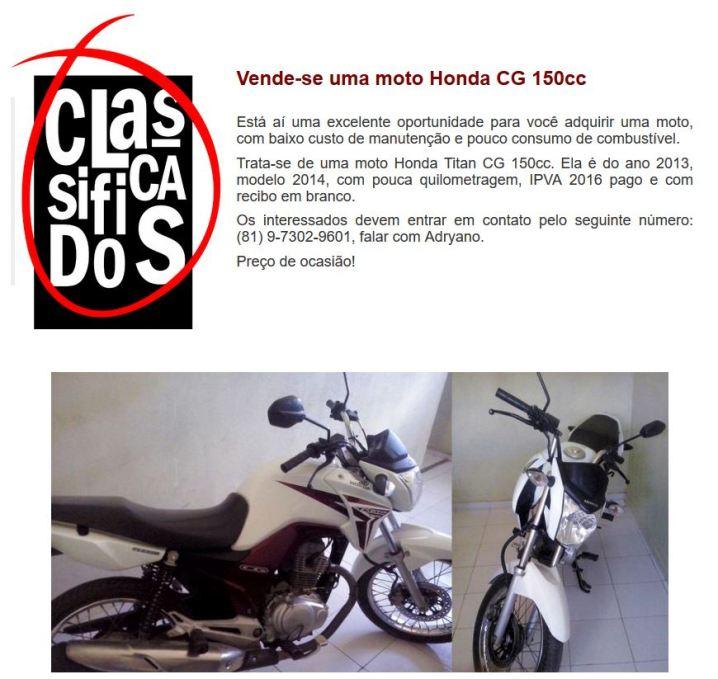 Classificados moto