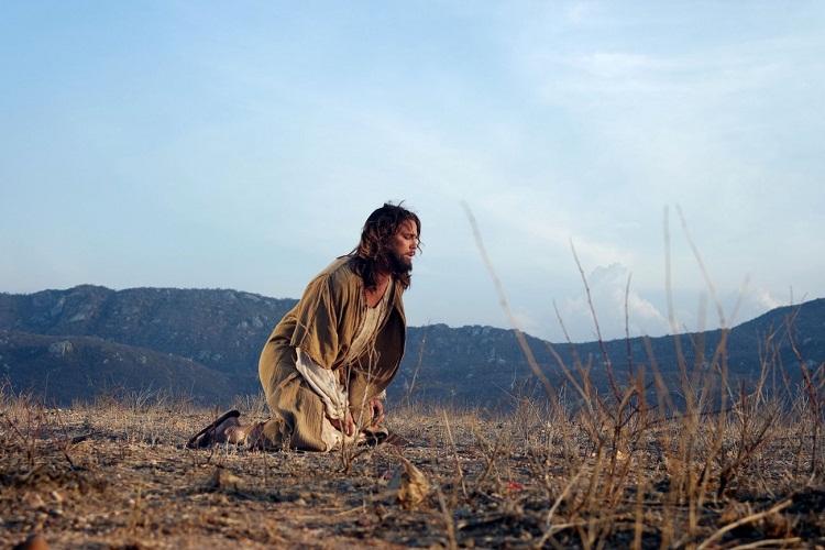 Gravacoes dos comerciais da Paixao de Cristo de Nova Jerusalem com o ator Romulo Neto que em 2017 vai fazer o papel de Jesus.