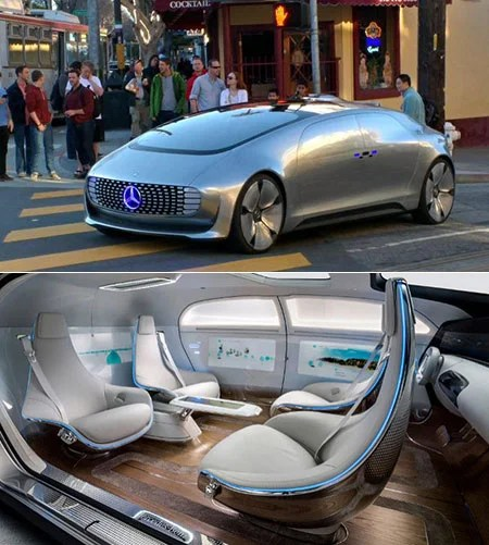 Driverless mercedes f015 spotted around san francisco for Mercedes benz autonomous driving