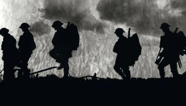 soldados en la Gran Guerra
