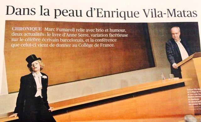 Artículo de Marc Fumaroli en Le Figaro Litteraire. 6.4.17