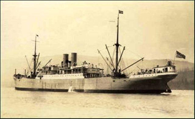 S. S. Crofton Hall, el barco con el que el 19 de septiembre de 1918 llegó Duchamp a Buenos Aires.
