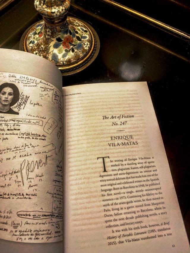 Vila-Matas in Art of Fiction. The Paris Review