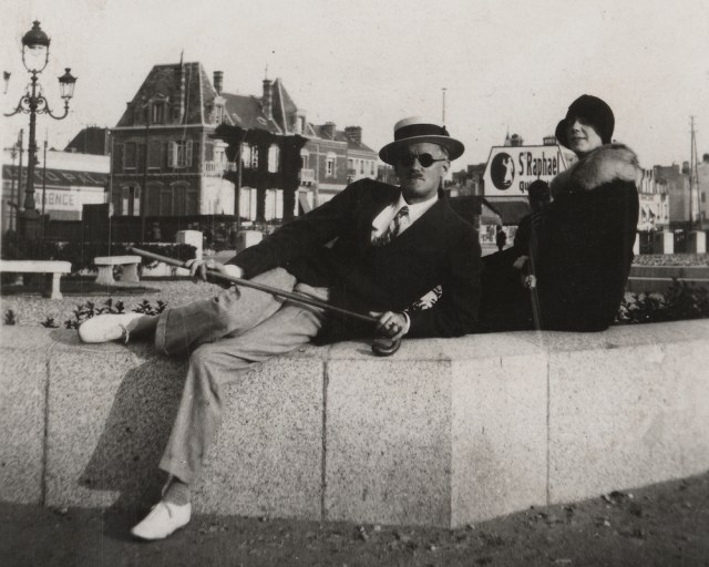 By Nuala O'Connor March 15, 2021 Arts & Culture James Joyce and Nora Barnacle, seated on a wall in Zurich. Image from the UB James Joyce Collection courtesy of the Poetry Collection of the University Libraries, University at Buffalo, The State University of New York.