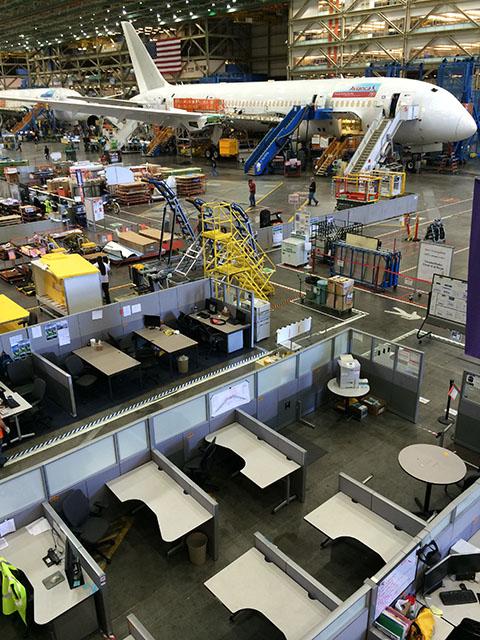Boeing Factory tour Everett