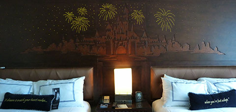 Disneyland fireworks bed