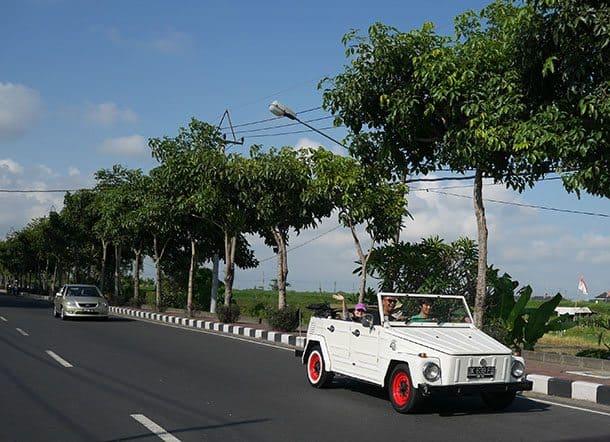 Whire VW safari Bali