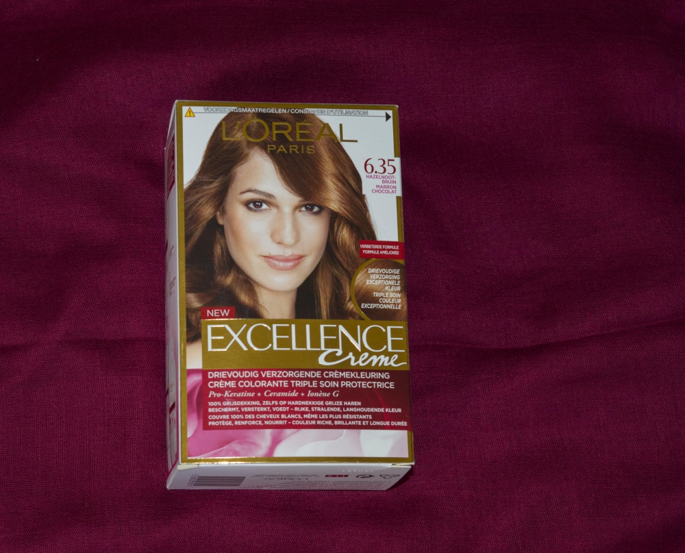 New Hair Color with L'Oreal Excellence Crème Chocolate Brown 6.35