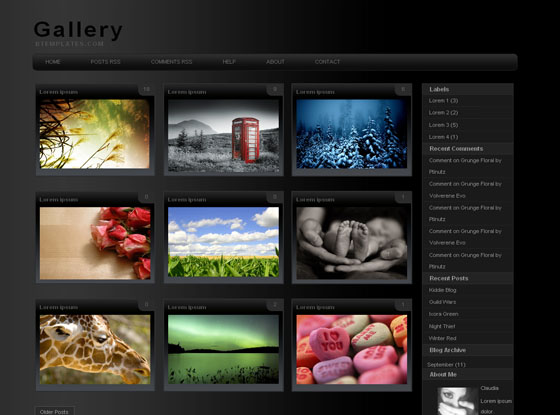 Gallery Blogger Theme Blogger Themes and Blogger Templates