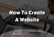 Create a website with BoldGrid