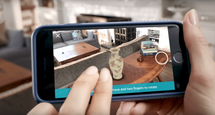 Amazon AR Shopping View Feature