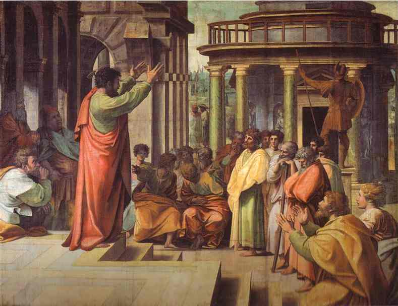 Paul preaching at Athens by Raphael