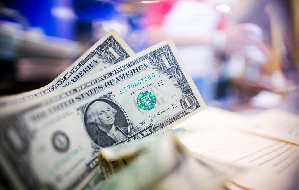US One Dollar Bills