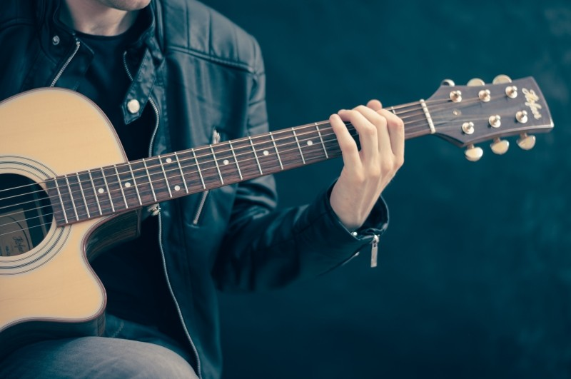 a classical guitar—often the perfect accompaniment for singing