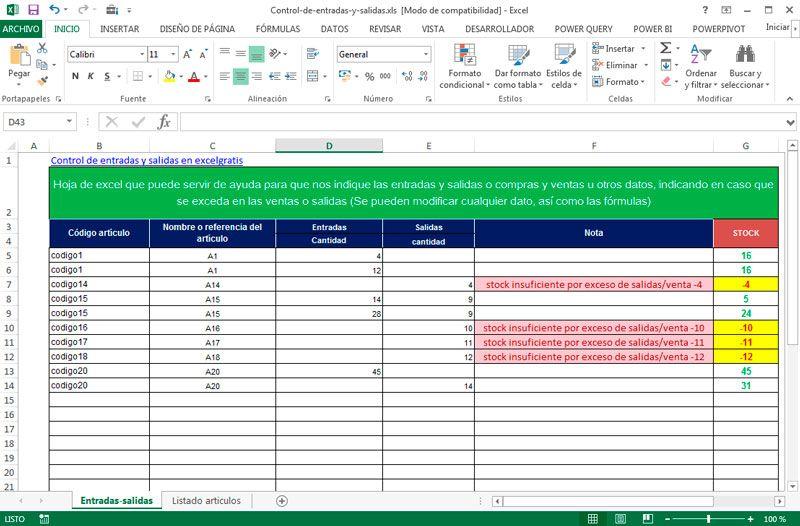 excel para inventarios entradas salidas clientes plantilla - formatos de minutas en excel