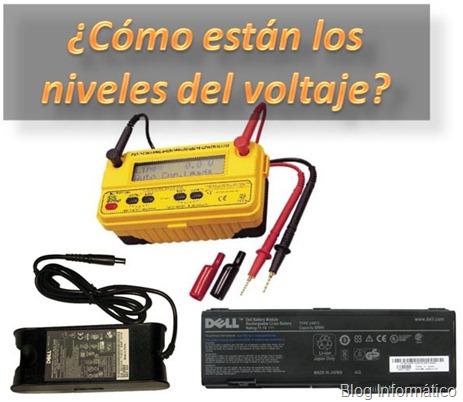 Medir voltaje batería de portátil y cargador