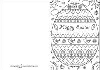 Biglietti di Pasqua da stampare e colorare, anche in ...