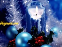 Bougie de Noël en fond d'écran