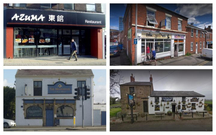 The Preston Restaurants Bars And Pubs That Scored Lowest