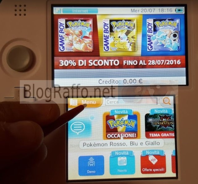 Nintendo 2DS recuperare software cancellato menu