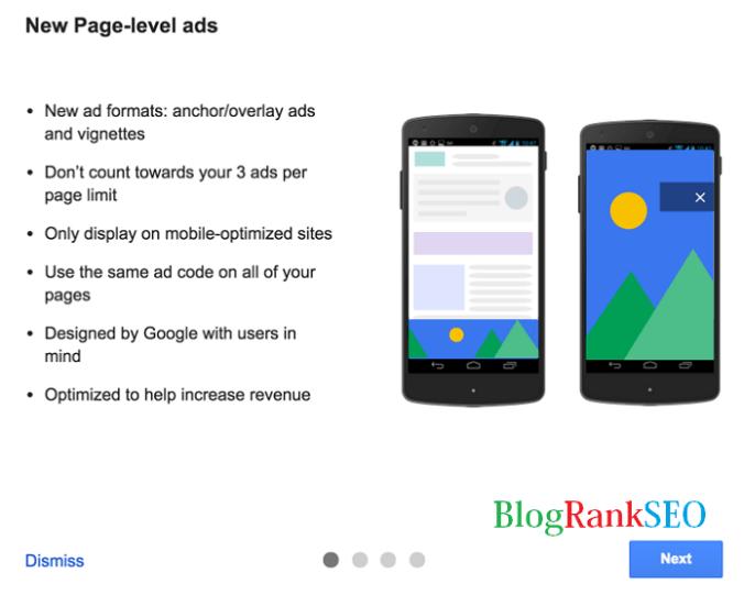 Monetization Adsense Page Level Ads
