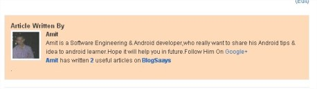 Author with Google+ Profile Link