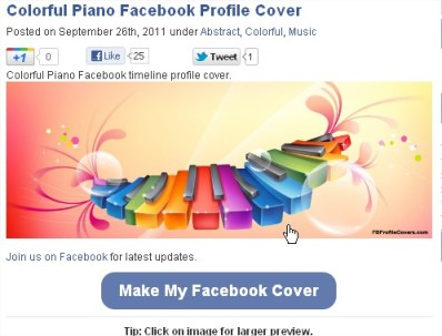 Colorful Piano Facebook Timeline Cover, FB Profile Cover