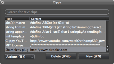 clippy  text clipping apps for MAC