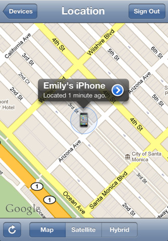 find my lost iphone app