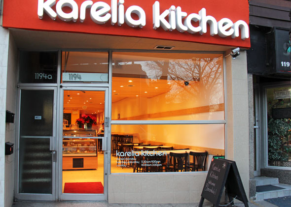 The front of Karelia Kitchen in Toronto, ON