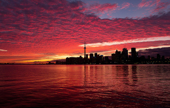 Free Early Fall Wallpaper Early September Sunset Sets Toronto Skies Ablaze