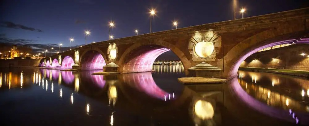 Pont Neuf, Toulouse by night