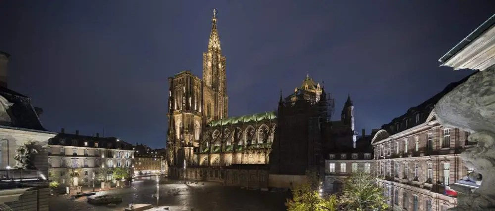 Cathédrale de Strasbourg by night