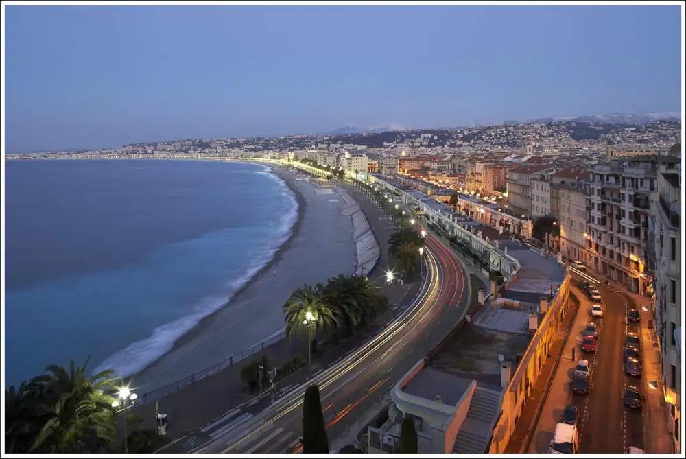 Promenade des Anglais, Nice by night