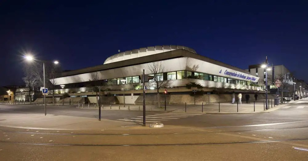 Conservatoire de Bordeaux by night