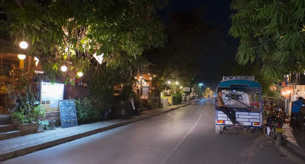 Louang Prabang by night, Laos