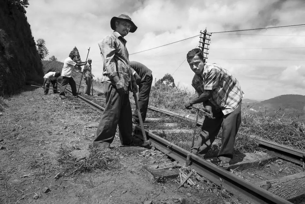 On the rail tracks, Haputale, Sri Lanka