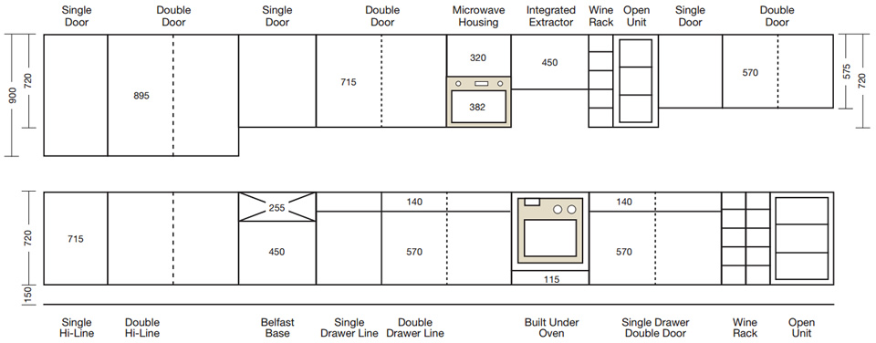 Kitchen wall oven cabinet dimensions