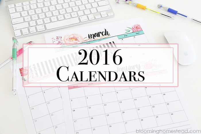 calendar Archives - Blooming Homestead