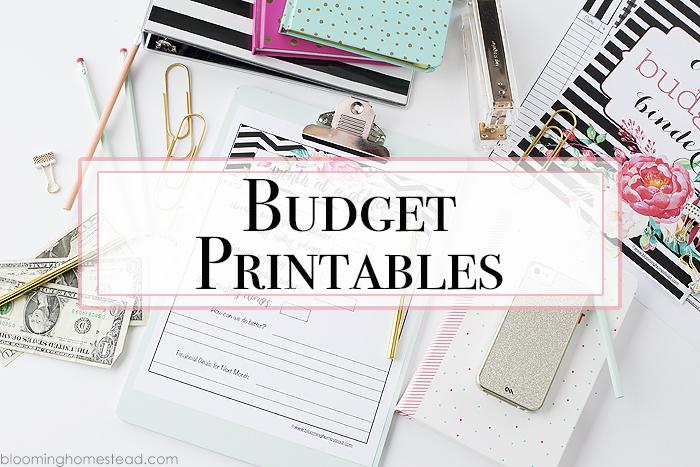 Printable Budget Binders - Blooming Homestead