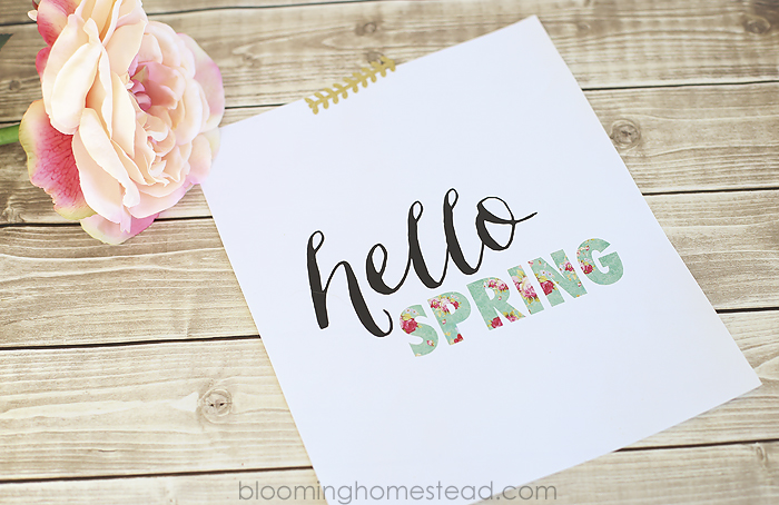 Hello Spring Printable - Blooming Homestead