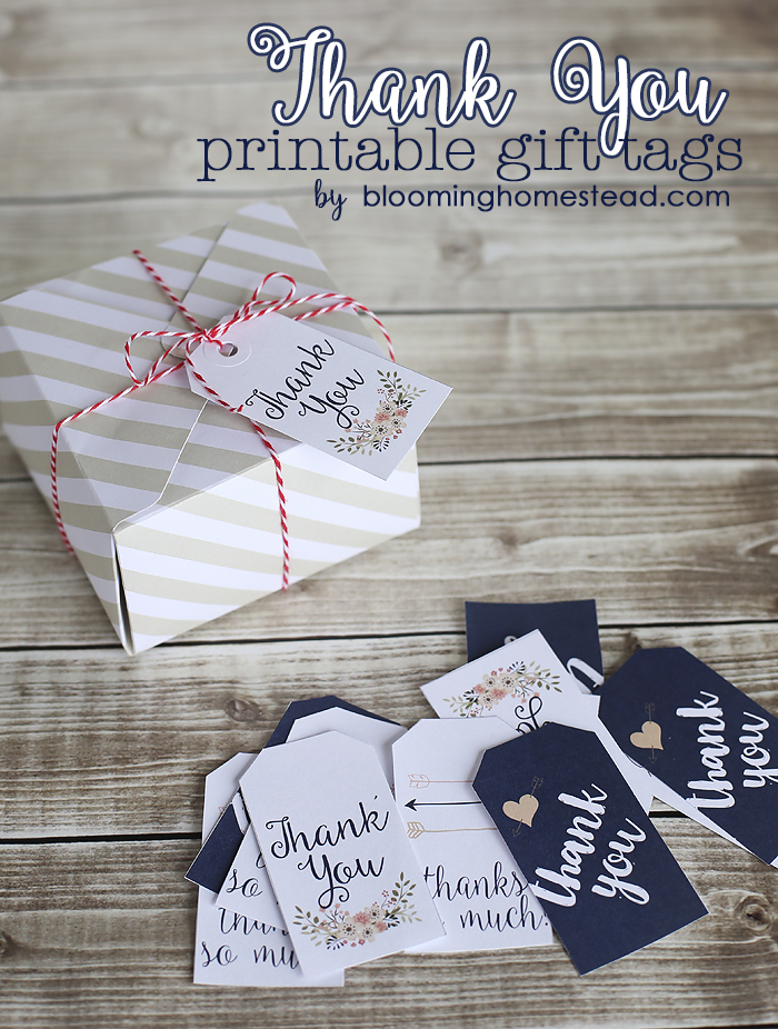 Thank You Gift Tags - Blooming Homestead