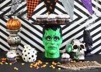 DIY Halloween Cake Plate - Blooming Homestead