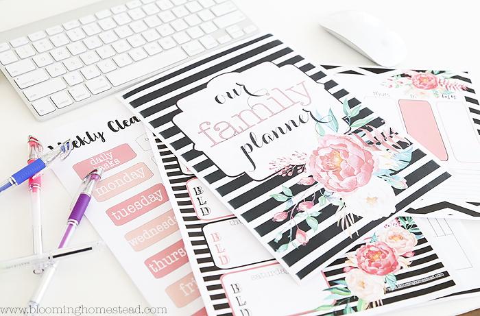 Home Organization Printables - Blooming Homestead