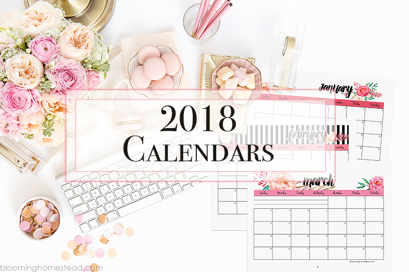 2018 Year at a Glance - Blooming Homestead