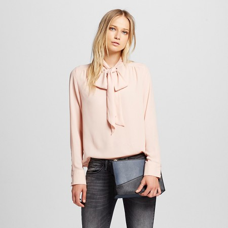 Pink Women's Tie Blouse - Who What Wear TARGET $24.99